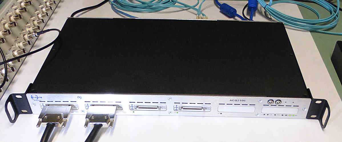 ACQ2106 fitted with 64 channels, 2MSPS/channel streaming data payload.
