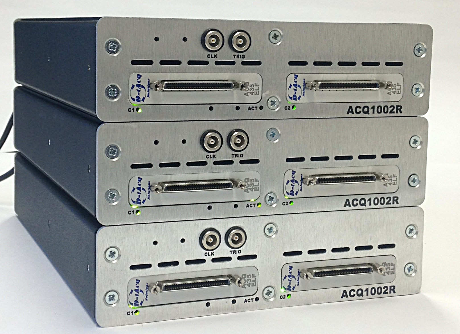 3 x ACQ1002R units stacked for testing